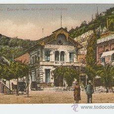 Postales: BARCELONA - ESTACIÓN INFERIOR DEL FUNICULAR DEL TIBIDABO. Lote 9532279