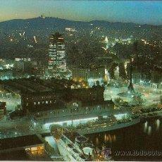 Postales: POSTAL A COLOR Nº 314 BARCELONA VISTA DE NOCTURNA PUERTO. Lote 9618758