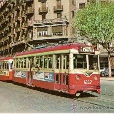 Postales: POSTAL A COLOR Nº 22 TRAM-VIES DE BARCELONA COTXE 1292. Lote 9618862