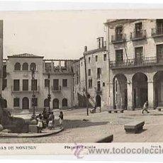 Postales: BARCELONA. CALDAS DE MONTBUY. PLAZA DE ESPAÑA. FOTO R. GASSO. SIN CIRCULAR. Lote 9688969