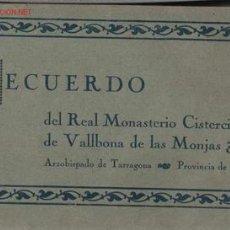Postales: REAL MONASTERIO CISTERCIENSE DE VALLBONA DE LOS MONJAS. Lote 1953678