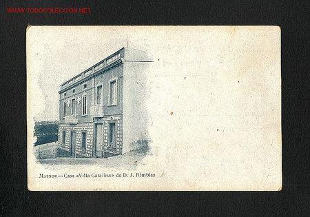 POSTAL D' EL MASNOU (BARCELONA): CASA VILLA CATALINA (Postales - España - Cataluña Antigua (hasta 1939))
