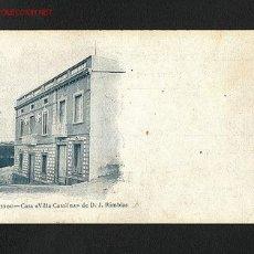 Postales: POSTAL D' EL MASNOU (BARCELONA): CASA VILLA CATALINA. Lote 1388894