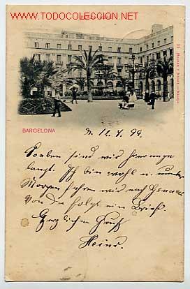 BARCELONA. PLAZA REAL. . CIRCULADA EN 1899 HAUSER Y MENET Nº 11 (Postales - España - Cataluña Antigua (hasta 1939))