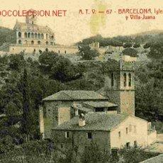 Postales: BARCELONA , IGLESIA DE VALLVIDRERA. Lote 18111675