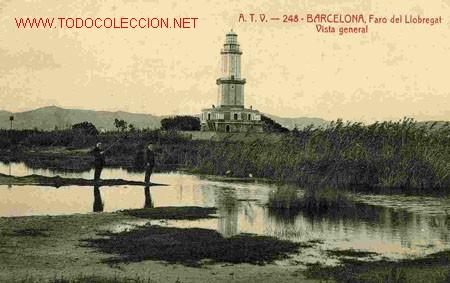 BARCELONA , FARO DE LLOBREGAT , VISTA GENERAL (Postales - España - Cataluña Antigua (hasta 1939))