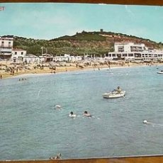 Postales: ANTIGUA FOTO POSTAL DE CALDETAS (BARCELONA) - PLAYA . CIRCULADA 1962. Lote 2184758
