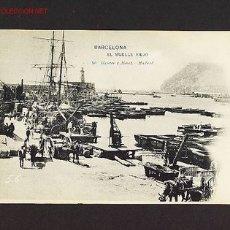 Postales: POSTAL DE BARCELONA CAPITAL: EL MOLL VELL (HAUSER Y MENET NUM.56) (ANIMADA). Lote 2229051