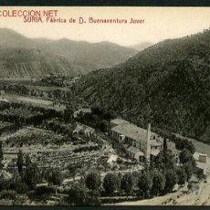 Postales: SURIA *FÁBRICA DE D. BUENAVENTURA JOVER* ED. LIB. RODERGAS. NUEVA.. Lote 2361323