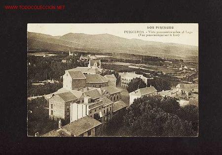 POSTAL DE PUIGCERDA (GIRONA): VISTA PANORÀMICA SOBRE EL LLAC (Postales - España - Cataluña Antigua (hasta 1939))