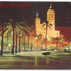 Postales: SITGES. PASEO DE LA RIBERA. COSTA DORADA. BARCELONA. VISTA NOCTURNA. Lote 2634779