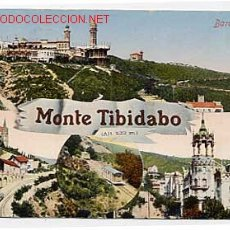 Postales: BARCELONA, MONTE TIBIDABO VARIAS VISTAS. ED. FOTO ROISIN. POSTAL EN BYN COLOREADA. CIRCULADA. Lote 2919962
