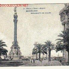 Postales: BARCELONA.- MONUMENTO DE COLÓN. Lote 3690819