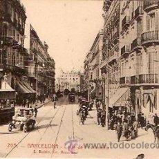 Postales: POSTAL BARCELONA CALLE DE FONTANELLA . Lote 9826356