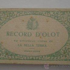 Postales: RECORD D'OLOT. 24 ARTISTICAS VISTAS DE LA BELLA TERRA.LIBRERIA J.ANTIGA 10030. Lote 16286572