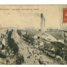Postales: BARCELONA, CALLE DEL MARQUES DEL DUERO. Lote 16506531