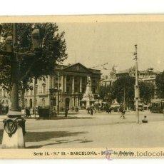 Postales: BARCELONA, PLAZA PALACIO. Lote 16506532