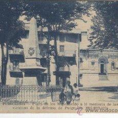Postales: PUIGCERDA. GUERRA CARLISTA. MONUMENTO A LA DEFENSA DE PUIGCERDA. 1837.1873. 1874. . Lote 10295659