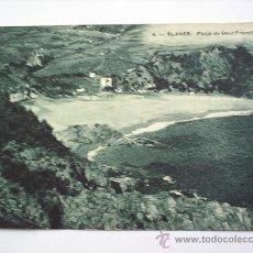 Postales: BLANES-PLATJA DE SANT FRANCISCO. Lote 10382604