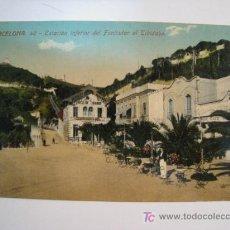 Postales: POSTAL BARCELONA: ESTACION INFERIOR FUNICULAR TIBIDABO. Lote 10422863