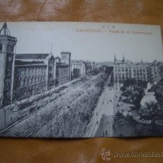 Postales: PLAZA UNIVERSIDAD BARCELONA. Lote 10436511