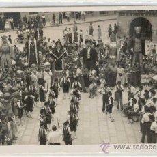 Postales - (PS-8107)POSTAL FOTOGRAFICA DE TARREGA(LLEIDA)-PLAZA MAYOR GIGANTES Y CABEZUDOS - 10528243