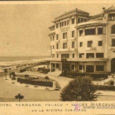 Postales: TARJETA POSTAL DE SITGES,BARCELONA. HOTEL TERRAMAR PALACE. HUECOGRABADO MUMBRU. Lote 13606753