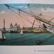 Postales: POSTAL BARCELONA: PUERTO DE LA PAZ. TINGLADOS DESDE ANTEPUERTO (VENINI). Lote 10582092