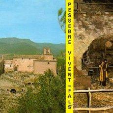 Postales: POSTAL DEL PESSEBRE VIVENT DEL BAGES- FALS - MANRESA. Lote 10650093