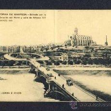 Postales: POSTAL DE MANRESA (BARCELONA): ENTRADA POR L' ESTACIÓ DEL NORD (P.JORBA, ED.MISSÉ) (DEFECTUOSA). Lote 10810184