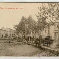 Postales: (PS-8464)POSTAL DE BLANES-RIERA Y FONT DE LA CREU. Lote 10878578