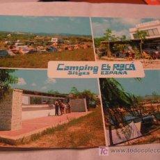 Postales: + SITGES CAMPING EL ROCÁ HACIA 1970 SIN USAR. Lote 11269492