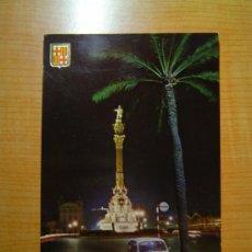 Postales: POSTAL BARCELONA MONUMENTO A CRISTOBAL COLON VISTA NOCTURNA SIN CIRCULAR. Lote 11365506