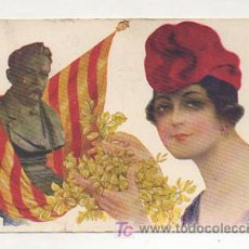 Postales: POSTAL CATALANISTA. (GLORIA CATALANES - ANSELM CLAVÉ). (ILUSTRADO POR R. MIR). Lote 11618888