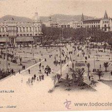 Postales: Nº 17976 POSTAL BARCELONA HAUSER Y MENET SIN DIVIDIR PLAZA CATALUÑA. Lote 25598519
