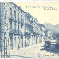 Postales: POBLA DE SEGUR CARRETERA DE GERRI THOMAS TARTRANA. Lote 11668682