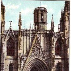 Postales: Nº 765 POSTAL BARCELONA SIN DIVIDIR FACHADA DE LA CATEDRAL. Lote 25703739
