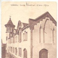 Postales: SABADELL ESCOLA INDUSTRIAL ARTS I OFICIS HUECOGRABADO NUMBRU. Lote 21155831