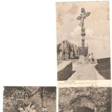 Postales: TRES POSTALES DE MONTSERRAT. ROSARIO MONUMENTAL. Lote 50133735