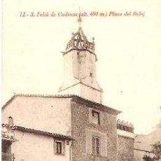 Postales: POSTAL S. FELIU DE CODINES PLAZA DEL RELOJ. Lote 11833060