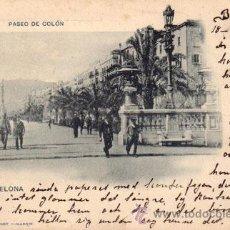 Postales: Nº 17957 POSTAL BARCELONA SIN DIVIDIR HAUSER Y MENET PASEO DE COLON. Lote 26497999