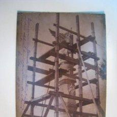 Postales: LLORET MAR: CONSTRUCCIO MONUMENT DE L'ANGEL. POSTAL ORIGINAL. Lote 252096055