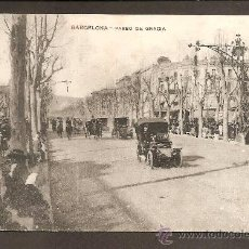 Postales: BARCELONA - PASEO DE GRACIA - CIRCULADA. Lote 25324381