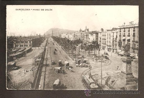 BARCELONA - PASEO COLÓN - CIRCULADA (Postales - España - Cataluña Antigua (hasta 1939))