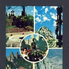 Cartoline: POSTAL DE MONTSERRAT (BARCELONA): 5 VISTES (ED.DEL MONESTIR NUM.55). Lote 12173507