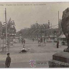 Postales: BARCELONA. PASEO DE COLON DESDE EL MONUMENTO. ED. LB. POSTAL FOTOGRAFICA CIRCULADA. Lote 12273428