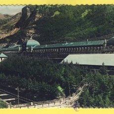 Postales: GERONA- CANFRANC 10-ESTACION INTERNAC ONAL Y RIO ARAGON -DATADA 1958-P-1229. Lote 14628164