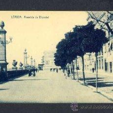 Postales: POSTAL DE LLEIDA: AVINGUDA BLONDEL (ED.CASAS). Lote 12573165