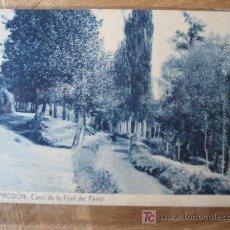 Postales: CAMPRODÓN. Nª 5 CAMÍ DE LA FONT DEL FERRO. FOTOTIPIA THOMAS. SIN CIRCULAR. Lote 25943708