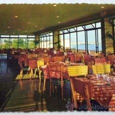 Postales: POSTAL HOTEL AUBI SAN ANTONIO DE CALONGE COSTA BRAVA COMEDOR 1961. Lote 194780082